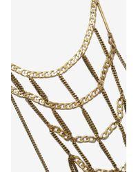 Nasty Gal Metallic Jenny Bird Hopper Weave Necklace