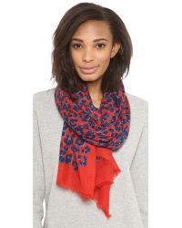 Juicy Couture - Red Leopard Scarf - Lyst