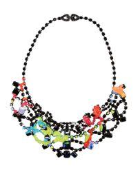 Tom Binns | Black and Chartreuse Au Fait Paint Necklace | Lyst