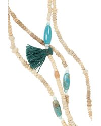 Isabel Marant | Metallic Set Of Two Ceramic Bead, Bone And Turquoise Necklaces | Lyst