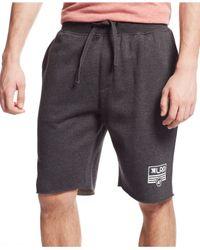 LRG Black Big & Tall Rc Flag Fleece Shorts for men