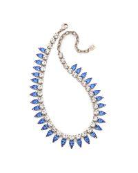 DANNIJO Blue Aspen Necklace  Silvercrystalsapphire