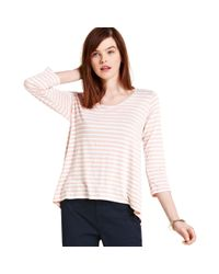Maison Jules - Pink Striped Top - Lyst