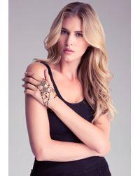 Bebe - Metallic Lace Hand Jewelry - Lyst