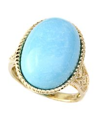 Effy | Blue Turquesa 14 Kt. Yellow Gold And Turquoise Oval Ring | Lyst