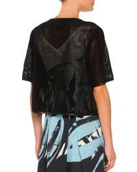 Piazza Sempione - Black Perforated Suede Short-sleeve Jacket - Lyst