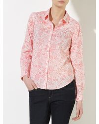 John Lewis Pink Archive Paisley Shirt