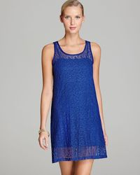 Tommy Bahama Blue Lace Covers Short Cover Up Tank Dress