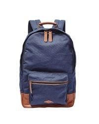 Fossil | Multicolor Estate Canvas Backpack for Men | Lyst