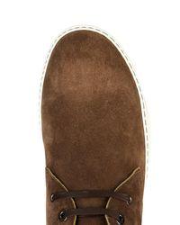 Lanvin Brown Suede Desert Boots for men