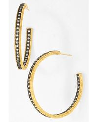 Freida Rothman | Metallic 'the Standards' Inside Out Hoop Earrings | Lyst