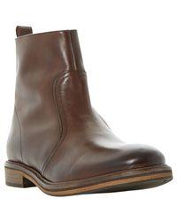 Bertie | Brown Caden Leather Zip Boots for Men | Lyst