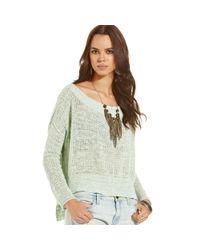 Free People | Green Sweater | Lyst