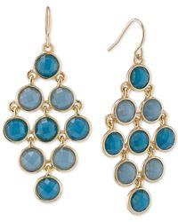 Carolee | Metallic Gold-tone Mini-circle Chandelier Earrings | Lyst