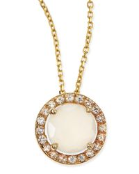 KALAN by Suzanne Kalan | Metallic 6mm Moonstone & White Sapphire Pendant Necklace | Lyst