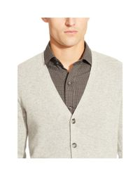 Ralph Lauren Black Label   Gray Cashmere V-neck Cardigan for Men   Lyst