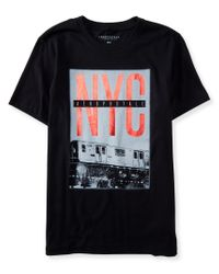 Aéropostale | Black Nyc Train Logo Graphic T | Lyst