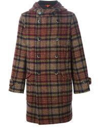 Barena - Multicolor Hooded Tartan Coat - Lyst