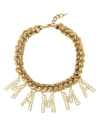 Dolce & Gabbana | Metallic Embellished Mama Necklace | Lyst
