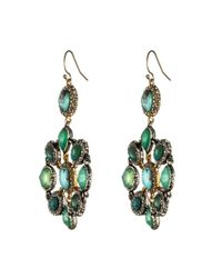 Alexis Bittar Green Turquoise Mosaic Earrings