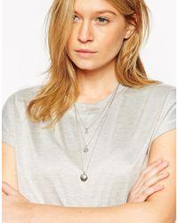 ASOS | Metallic Multirow Globe Necklace | Lyst