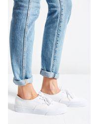 Vans White Authentic Deck Club Sneaker