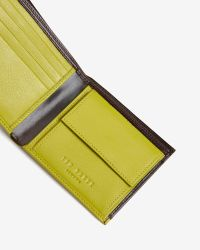 Ted Baker - Brown Contrast Colour Wallet for Men - Lyst