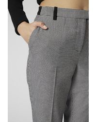 TOPSHOP Gray Dogtooth Cigarette Trousers