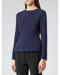 Reiss Blue Emily Fitted Top