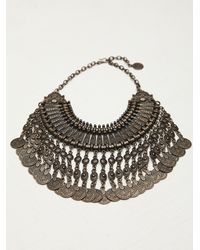 Free People - Brown Chanour Womens Antalya Coin Collar - Lyst