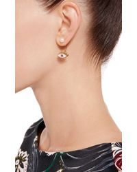 Delfina Delettrez | Metallic Glittered Eye Pierced Earring | Lyst