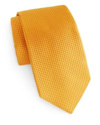 Ike Behar | Yellow Woven Silk Tie for Men | Lyst