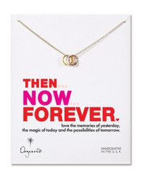 Dogeared | Metallic Then Now Forever Necklace 18 | Lyst
