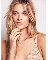 Free People | Metallic Melissa Joy Manning Womens Gold Dipped Bar Necklace | Lyst