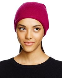 C By Bloomingdale's Red Cashmere Angelina Slouchy Hat