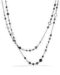 David Yurman - Metallic Dy Elements Chain Necklace With Black Onyx & Hematine - Lyst
