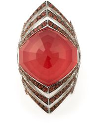 Stephen Webster | Metallic Large 'Lady Stardust Crystal Haze' Ring | Lyst