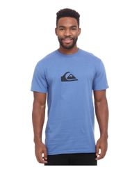 Quiksilver | Blue Everyday Logo Tee for Men | Lyst
