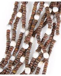 Eskandar Brown Multi-strand Coconut Bead Necklace