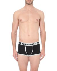 DIESEL | Black Hero Stretch-cotton Trunks - For Men for Men | Lyst