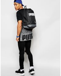 PUMA Black Longline T-shirt With Back Print for men