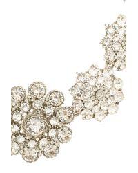 Oscar de la Renta | Metallic Crystal Necklace | Lyst