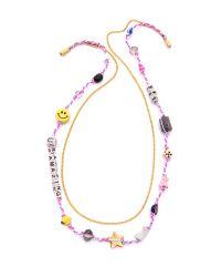 Venessa Arizaga - Multicolor You'Re Amazing Necklace - Multi - Lyst
