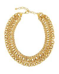 Jose & Maria Barrera - Metallic Layered Multi-chain Necklace - Lyst