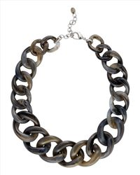 Jaeger Gray Chunky Resin Chain Necklace