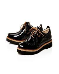 Moda In Pelle Black Fiano Low Smart Shoes