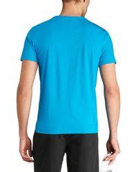 BOSS Green - Blue 'tee' | Cotton Jersey T-shirt for Men - Lyst
