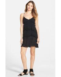 Volcom Black 'haute Love' Strappy Dress
