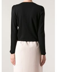 RED Valentino Black Crew Neck Cardigan