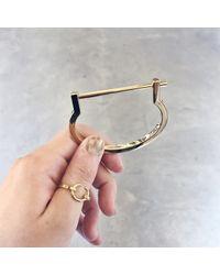 Miansai | Metallic Modern Screw Cuff In Gold | Lyst